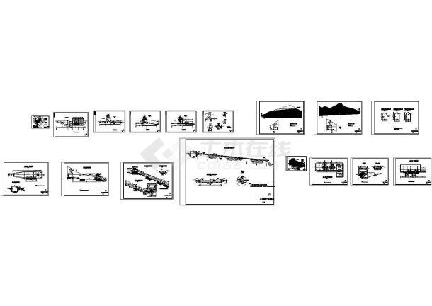 [四川]水电站枢纽工程初步设计施工图(引水隧洞 压力前池 厂房)-图二