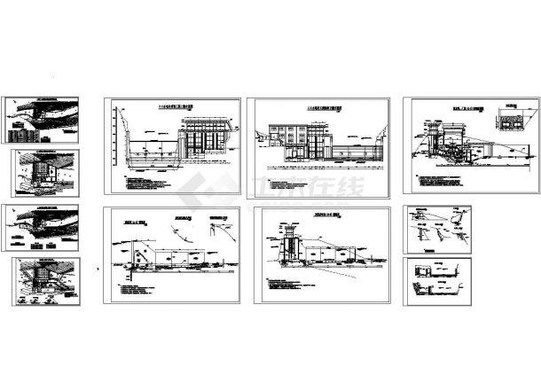 坝后式水电站设计全套图纸-图一