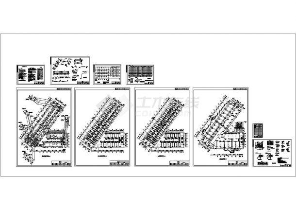某七层宿舍楼给排水CAD竣工图-图一