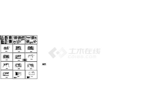 某私人5层框架结构住宅楼电气设计CAD施工图-图二