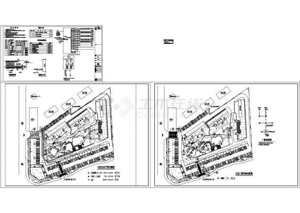 某地区家属住宅小区电气照明系统设计CAD施工图-图二