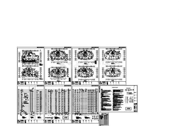 福建某二十七层住宅小区给排水施工cad图纸-图二