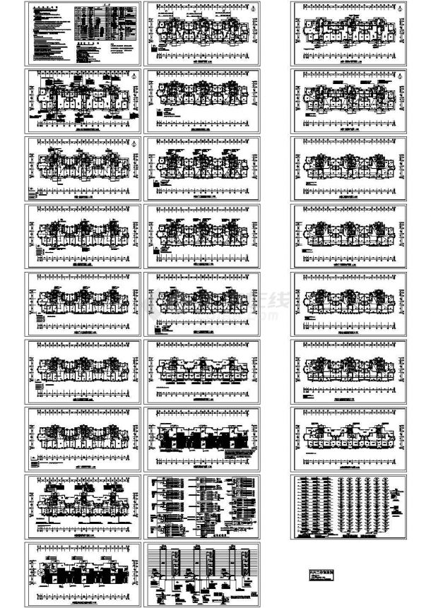 某小区小高层住宅楼电气设计CAD施工图-图一