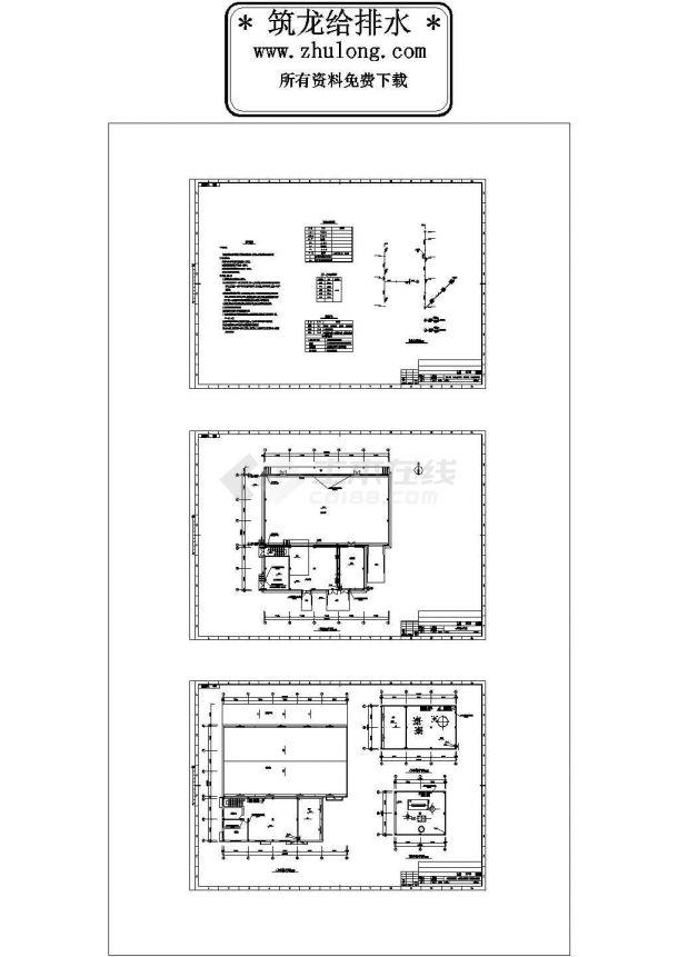四层工业厂房给排水设计图纸-图一