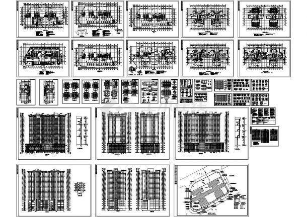 某高层框架结构住宅楼设计cad全套建筑施工图(含设计说明,含经济技术指标)-图一