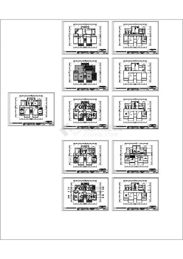 华泰小区某小高层框架结构住宅楼中楼装修设计cad全套施工图(甲级院设计)-图二