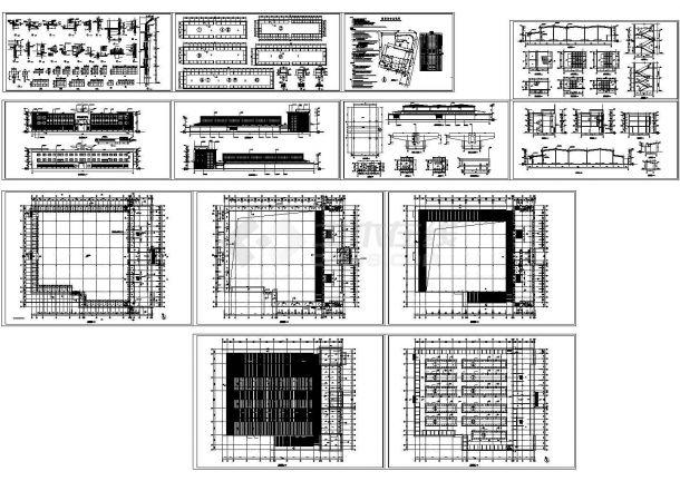 某市菜市场(多层框架结构,8422.6㎡)设计cad全套建筑施工方案图(含设计说明)-图二