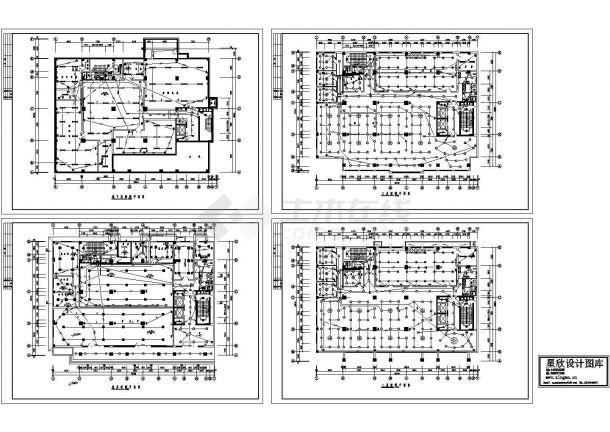 某综合楼照明工程设计CAD施工图-图一