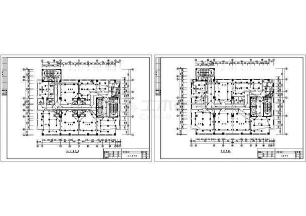 某综合楼照明工程设计CAD施工图-图二