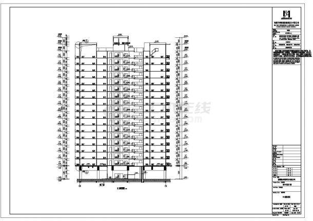 某高层框架结构住宅楼设计cad全套建筑施工图纸(甲级院设计)-图一