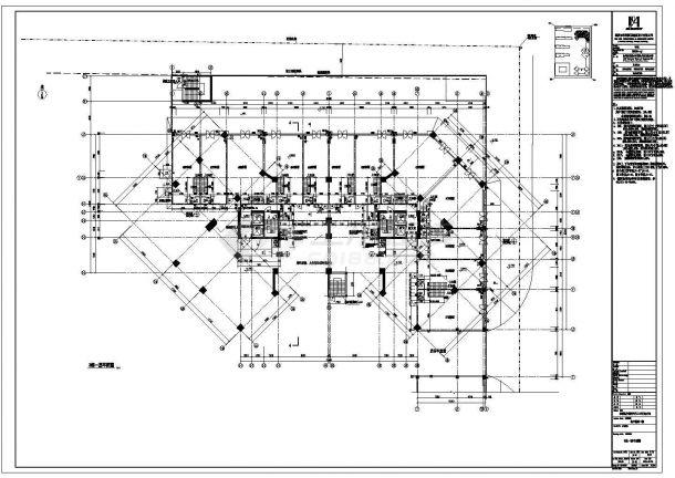 某高层框架结构住宅楼设计cad全套建筑施工图纸(甲级院设计)-图二