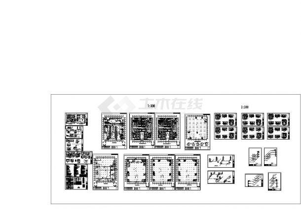 [山东]大型商场暖通设计施工设计CAD图纸-图一