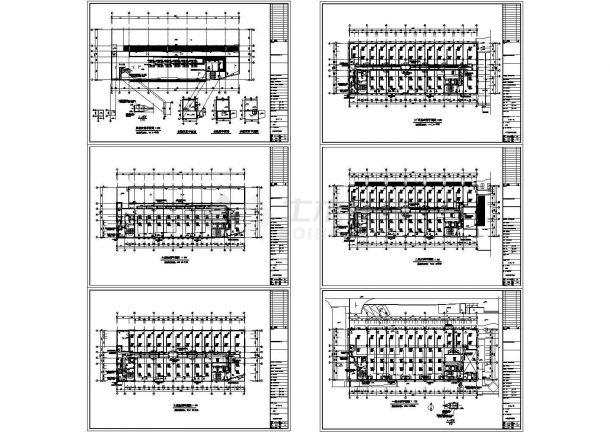 某国际广场办公楼暖通空调设计平面cad施工图-图一