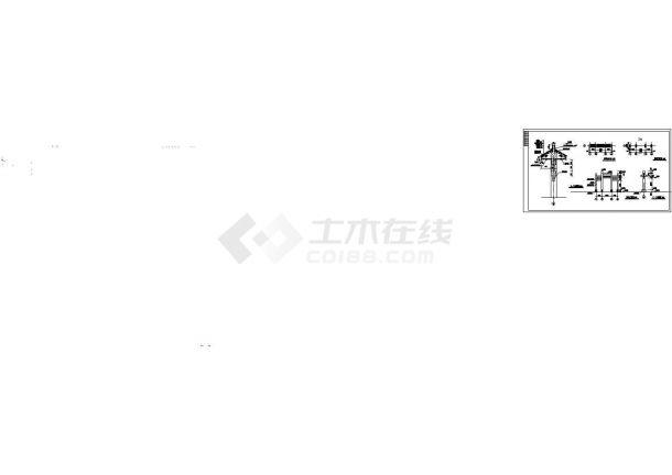 简式牌楼建筑设计施工图-图二