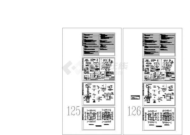 360平米3层框架结构住宅楼电气设计CAD施工图-图二