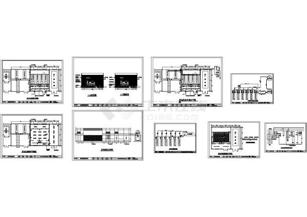 发电机房冷却水配套设计图纸-图一
