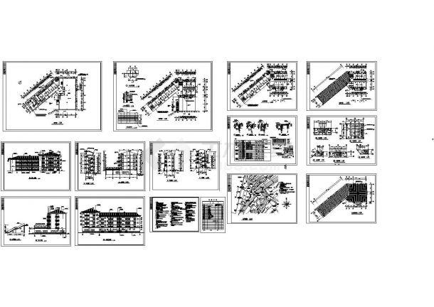 某四层综合宿舍楼建筑设计施工图-图一