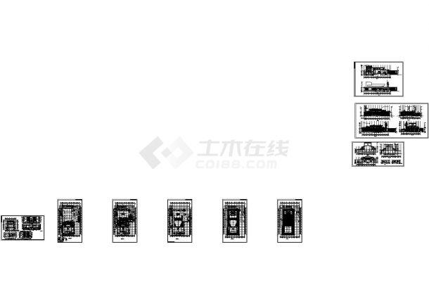 某市文化中心设计CAD全套平立剖面建筑施工图纸(标注详细)-图一