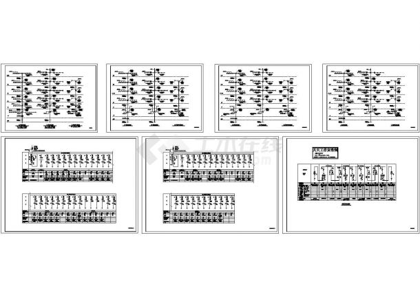 虹口小区高层住宅高低压配电系统设计施工cad图,共七张-图一