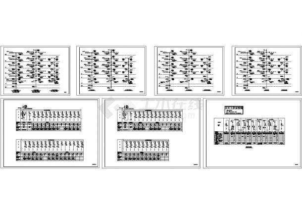 虹口小区高层住宅高低压配电系统设计施工cad图,共七张-图二