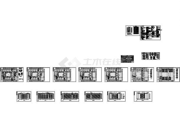 某学校五层框架结构教学楼建筑设计施工全套cad图纸(包含建筑设计说明,建筑节能设计说明)-图二