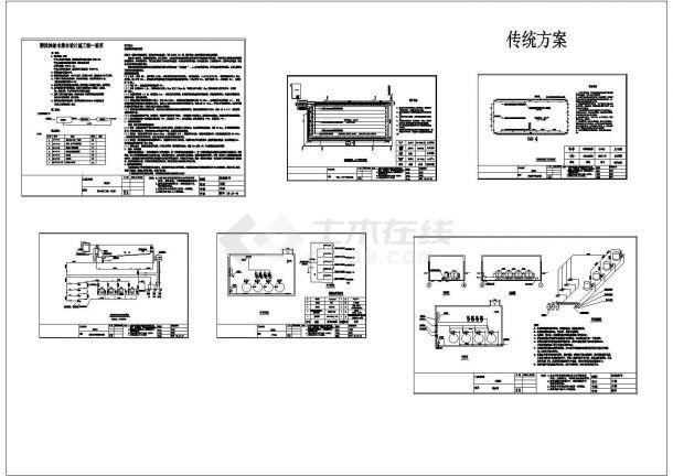 某泳池传统方案CAD设计图纸-图二