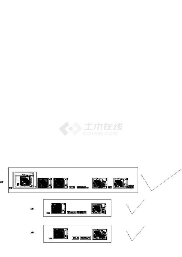[湖北]临近既有轻轨16米深基坑支护初步设计方案图(共有三套方案)-图一