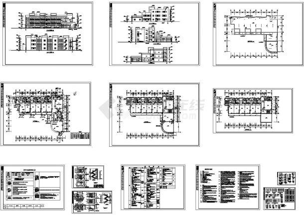 某三层幼儿园建筑施工图,共13张图纸-图一