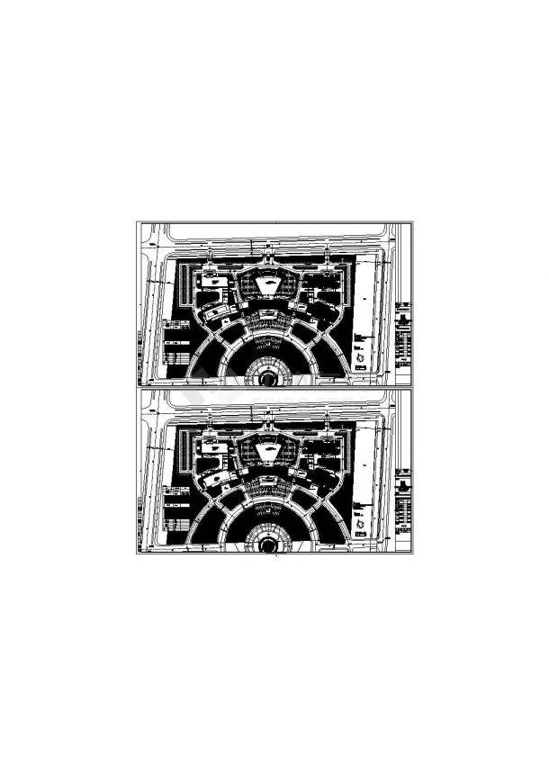 江苏南通服务中心建筑电气设计图纸(建筑、结构、机电设备)-图一