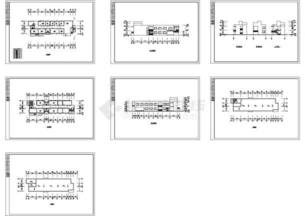 某人民医院多层框架结构急诊楼设计cad全套建筑方案图(甲级院设计)-图二