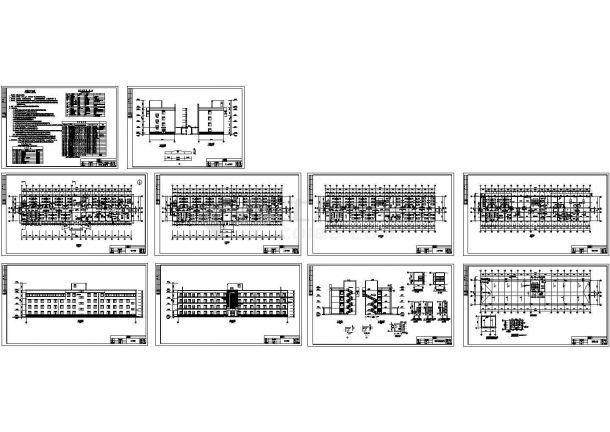 宝鸡市某四层框架结构医院住院楼(2916㎡)设计cad全套建筑方案图(含设计说明)-图二