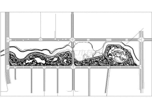 抚州某湿地公园植物配置绿化工程施工cad图纸-图二