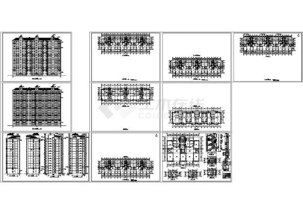 某小区14层剪力墙结构住宅楼建筑设计CAD施工图-图二