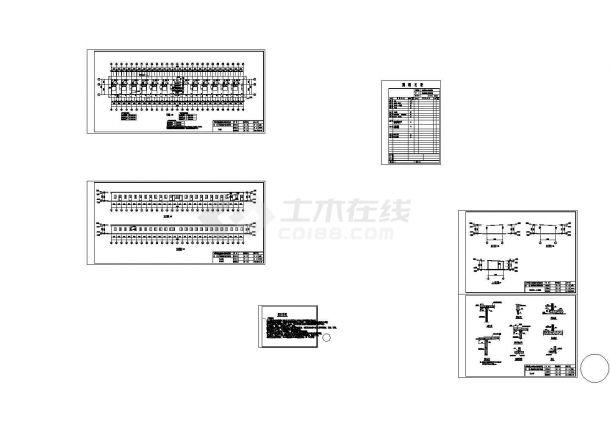 某单元式轻钢结构单层安置房(援建救灾)设计cad全套建筑施工图(含设计说明,含结构设计,含给排水设计,含电气设计)-图二