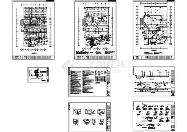 某小区地下室给排水系统施工图-图一