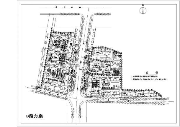 十二层住宅小区规划设计cad图(含总平面图)-图二