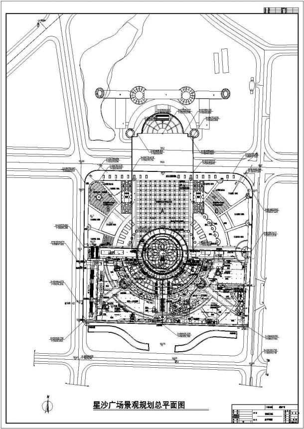 圆林广场景观规划设计cad图(含总平面图)-图一