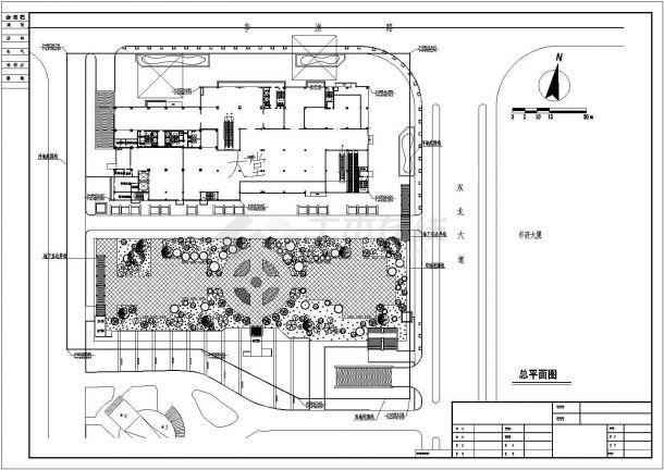 某广场方案设计cad图(含总平面图)-图一