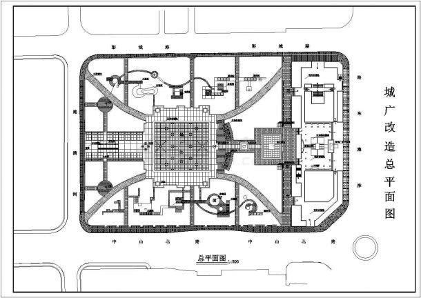 某城市广场景观设计cad图(含总平面图)-图二