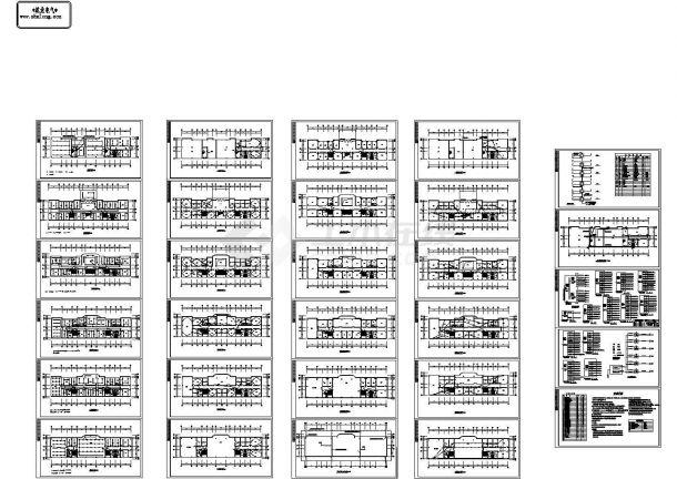 六层欧式办公楼电气设计施工图-图一