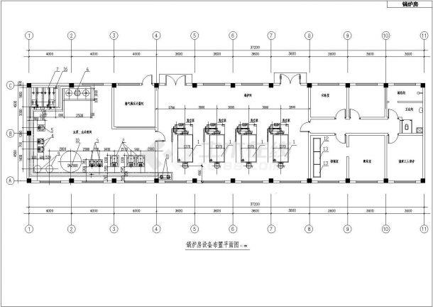 某公共建筑暖通空调平面设计cad施工图-图二