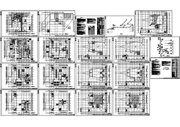 某中学艺术综合楼暖通空调设计cad施工图-图一