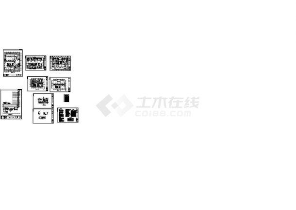 某高层框架结构综合楼空调及通风排烟设计cad全套施工图(含设计说明)-图一