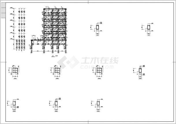3463平米六层临街商住楼建筑结构设计施工cad图纸(含计算书)-图一