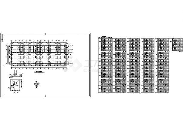 3463平米六层临街商住楼建筑结构设计施工cad图纸(含计算书)-图二