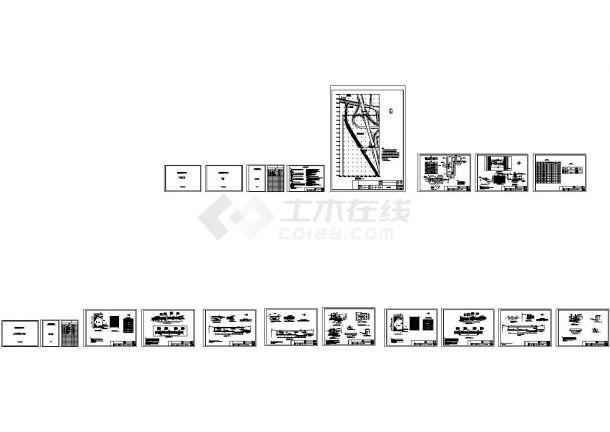 某人工湿地工程设计cad全套工艺施工图纸(含设计说明,含结构设计)-图二