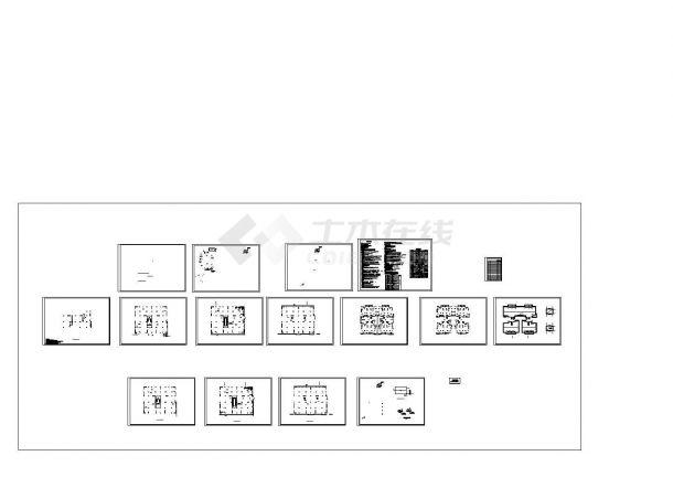 某多层商住建筑给排水全套施工CAD图纸设计,含给排水设计说明-图一