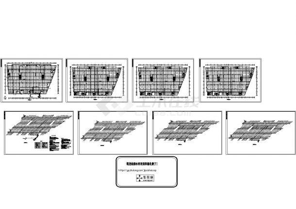 4万平方米商场自喷系统设计施工CAD图纸设计,含设计说明-图一