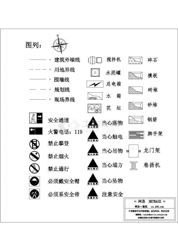 施工现场建筑安全标志图块cad版本,可直接套用-图一