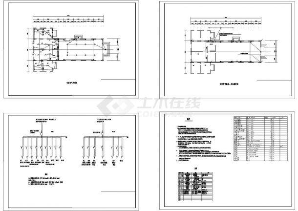 某公司食堂强电设计施工图纸-图二